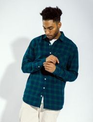 [QT8] MK Kiss Check Shirt [Green]