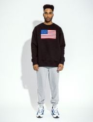 [QT8] MK USA Sweat Shirt [Black]