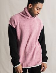 [QT8] MK Turtle Neck Sweater [Pink/Black]