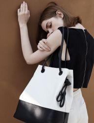 [ATCLIP] KNOT BAG CANVAS [BLACK]
