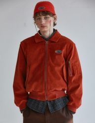 [SCULPTOR] CORDUROY BOMBER JACKET [ORANGE]