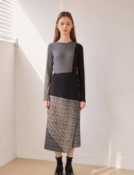 [SOFT SEOUL] Wool Mix Wrap Around Skirt