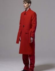 [BY D BY] one button long coat_red