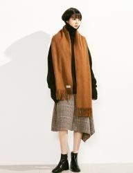 [VOIEBIT] BASIC WOOL MUFFLER_BROWN