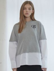 [bpb] Grey Combi Sweat Shirts