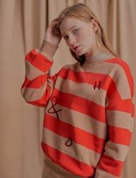 [NU PARCC] Orange Stripe Sweatshirt