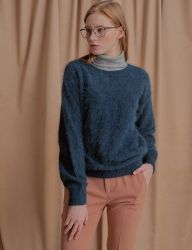 [NU PARCC] High Angora Knit D.GREEN