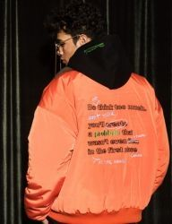 [AT THE MOMENT] Collar Oversized MA-1 [ORANGE]