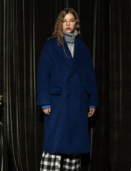 [AT THE MOMENT] Oversized Long Coat [BLUE]