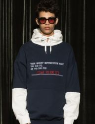 [AT THE MOMENT] Do It Hoodie [NAVY]
