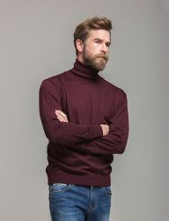 [KNITTED] SOFT MERINOWOOL TURTLENECK KNIT 4 COLOR