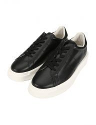 [ORDINARY PEOPLE] ORDINARY COWHIDE BLACK SNEAKERS
