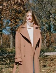 [NOMINATE] DOUBLE WOOL LONG COAT [CAMEL]