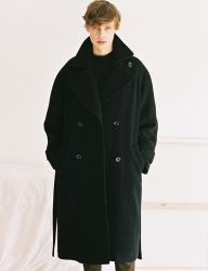 [NOMINATE] DOUBLE WOOL LONG COAT [BLACK]