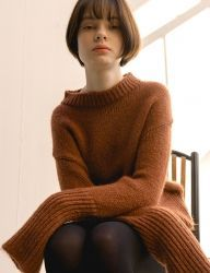 [nuissue] CHUNKY MOHAIR KNIT