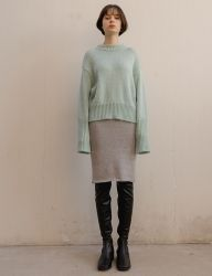 [nuissue] TWINKLE KNIT SKIRT