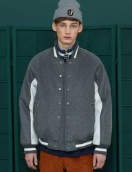 [UNALLOYED] WOOL STADIUM JUMPER / CHARCOAL