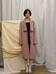 [SINOON] hand made coat [lavender]