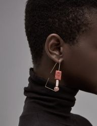 [090FACTORY] [Silver]Coral Earring