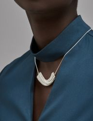 [090FACTORY] [Silver]Chain cylinder Necklace 1 (Silver/Gold)