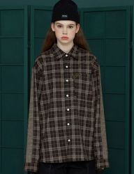 [UNALLOYED] SIDELINE CHECK SHIRT [BROWN]