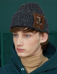 [UNALLOYED] PIPE BIG BEANIE [CHARCOAL]