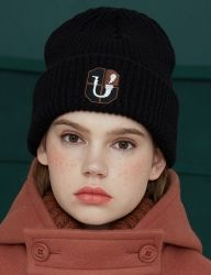 [UNALLOYED] PIPE EMBLEM BEANIE [BLACK]