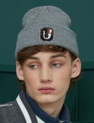 [UNALLOYED] PIPE EMBLEM BEANIE [GREY]