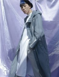 [Oct.3] October3rd Long Hood Rain Coat_Blue