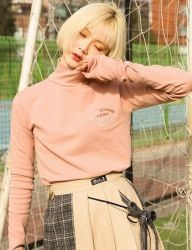 [Oct.3] October3rd School Logo Turtle Neck [Pink]