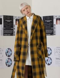 [TARGETTO] OVERSIZE ROBE YELLOW CHECK