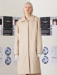 [TARGETTO] OVERSIZE D-RING MAC COAT BEIGE