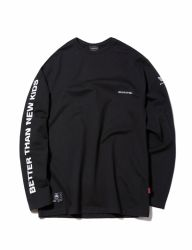 [GROOVERHYME] 2018 SLEEVE LETTERING T-SHIRTS OVER FIT [GTS003G13]