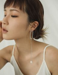 [MIDNIGHT MOMENT] water pearl drop earring