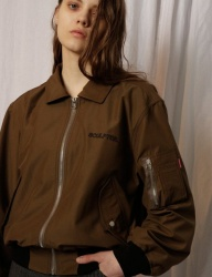[SCULPTOR] SCP OUTLINE BOMBER JACKET [BROWN]