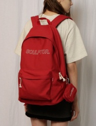 [SCULPTOR] OUTLINE-LOGO BACKPACK [IVORY/RED/BLACK]