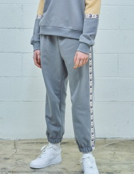 [MIMICAWE] ANGER TAPED TRACK PANTS/GREY
