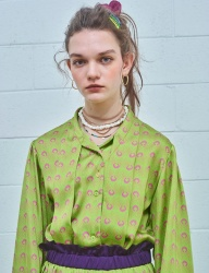 [MIMICAWE] ANGER-C DTP BLOUSE/LIME GREEN