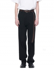[VUIEL] OVERSIZED WIDE LEG TWILL CHINO
