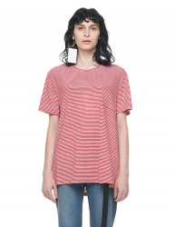 [VUIEL] POKET STRIPED SILKET T_SHIRT