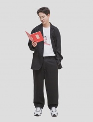[WKNDRS] OVERSIZED TROUSER [BLACK]