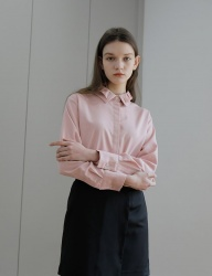 [YUPPE] collar point shirts [pink]