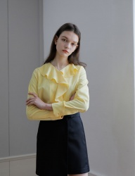 [YUPPE] flare shirts [yellow]