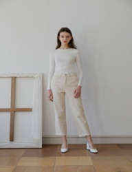 [YUPPE] yuppe cotton pants [ivory]