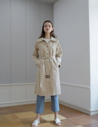 [YUPPE] frill trench coat [beige]
