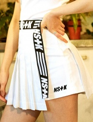 [NASTY KICK] [NSTK] NASTY WRAP TENNIS SKIRT PANTS (WHT)