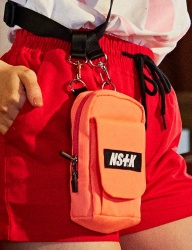 [NASTY KICK] [NSTK] SHOULDER BELT POUCH BAG (PINK)
