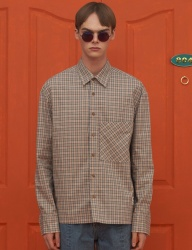 [UNALLOYED] UNBALANCE CHECK SHIRT / BEIGE