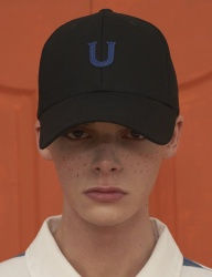 [UNALLOYED] U PATCH BALLCAP / BLACK