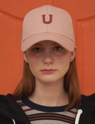 [UNALLOYED] U PATCH BALLCAP / PINK